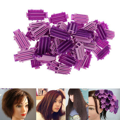 50 Hairdressing Bendy Rollers Wave Perm Rod Corn Hair Clip Curler Maker DIY