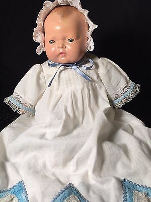 """Antique Unmarked Baby Doll 15"""" circa 1920s"""