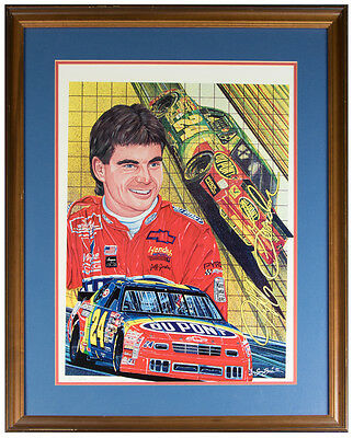 "Sam Bass Autographed Picture JEFF GORDON ""Top Rookie 93"" 166/500 Free Shipping!!"