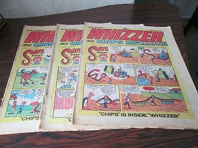 3 x WHIZZER and CHIPS COMICS MAY 1974     UK COMICS