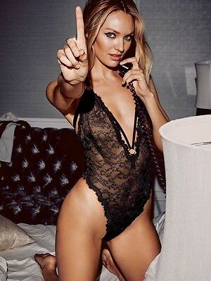 NWT Victoria's Secret Black Strappy Fishnet Chantilly Lace Thong Teddy L