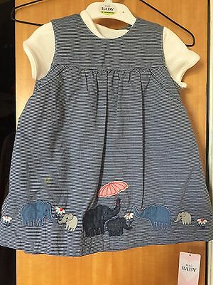 M & S Girls Dress 12-18 Months New