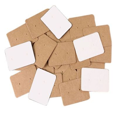 Kraft Package Display Cards Paper Cards Ear Studs Hanging Cards Earring Holder