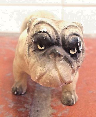Antique Porcelain English Bulldog Hand-Painted Figurine