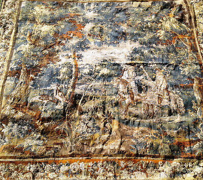 Beautiful early 17th centry wool and silk tapestry size is 9 foot by 9 foot
