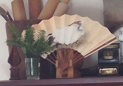 Spotted Bamboo Stand for Sensu / Fan Display / Japanese Tea Ceremony