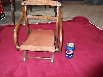 Antique, Vintage Child Size Wooden Folding Chair, Child's or Doll's, Beautiful!!