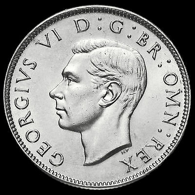 1945 George VI Silver Two Shilling Coin / Florin, AU