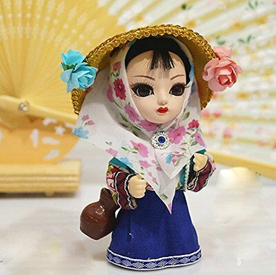 6'' Mini Q Version Chinese Asian Doll Figurine Pastoral Girl