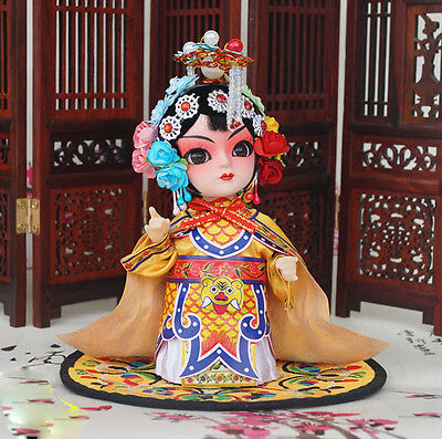 6'' Mini Q Version Chinese Peking Opera Performer Historical Consort Yu