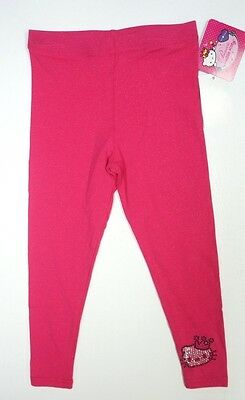 New Girls Hello Kitty By Sanrio Sparkly Pink Leggings Pants Size 4