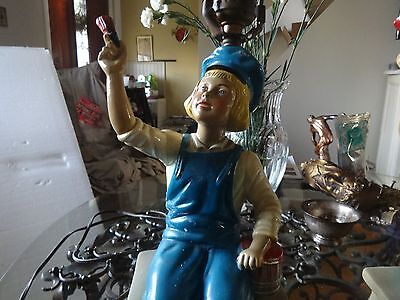 Early Vintage Dutch Boy Paint Advertising Painter Lamp