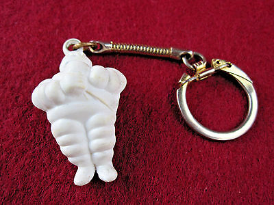 "Vtg 1.5"" tall MICHELIN TIRE MAN KEYCHAIN Key Chain/Ring Rare Gas Station Promo"