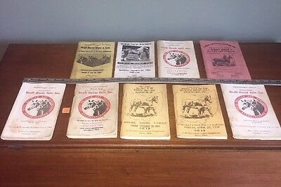 9 VINTAGE 1960-90s HORSE SHOW Sale Ohio Fairgrounds Draft Yearlings