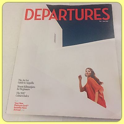 AMEX Departures Magazine The Culture Issue May / June 2017 New