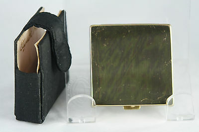 Vtg Elizabeth Arden Square Compact in Case Signed Puff and Case No Powder