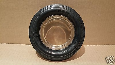 Vintage ROYAL MASTER Tire Advertising Ashtray - Glass Insert w/Rubber Tire #21