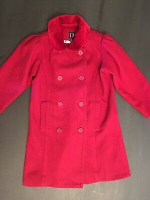 Baby Gap Girls Red Wool Coat Lined Jacket Dressy Girls Size 5 Years