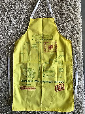 New Rare Oscar Mayer Wieners Hotdog Claussen Pickle Blueprint Apron Father's Day