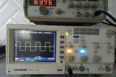 GW Instek GDS-2102 2 Channel 100MHz 1GSa/s Digital Storage Oscilloscope WOW!!!