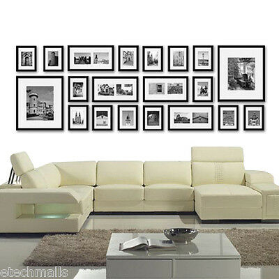 3/20/23/26 Pcs Photo Frame Set Picture Wall Frame Home Office Decor Art Gift AU