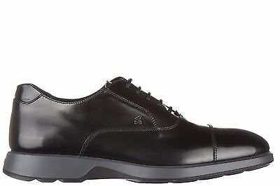 Hogan Men's Classic Leather Lace Up Formal Shoes New Dress Oxford Black Italy