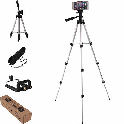 Tripod Camera Stand Holder Professional For Smart Phone iPhone Samsung + Holder