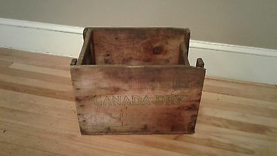 Early Canada Dry Ginger Ale Wooden Box