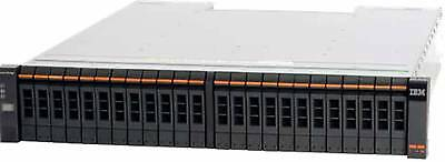 IBM STORWIZE V7000 2076-224 with 10 x 900GB 10K 2 x 85Y850 SAS  PS RAILS TESTED