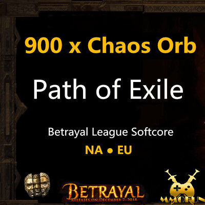 1000 x Chaos Orb - Path of Exile PoE Currency Incursion League Softcore SC EU/NA