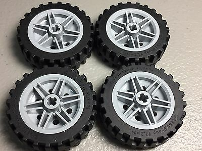 NEW LEGO WHEEL 30mm x 14mm & 43.2 x 14 Tire Offset Tread (x4) (56904 / 56898)