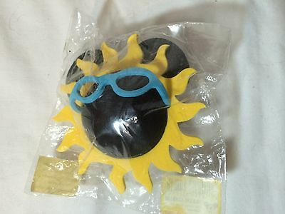 New Disney Antenna topper Ball Foam Mickey mouse ears sunshine sun glasses NIP