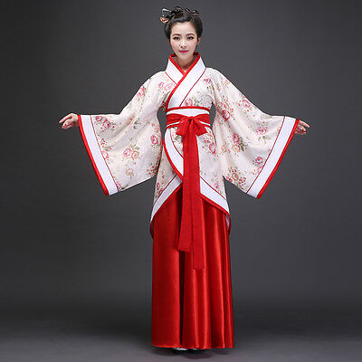 Chinese Ancient Tang Dynasty Fairy Costume Clothing Hanfu Classical Dance Dress