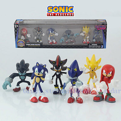 NEW 6 PCS Sega Sonic The Hedgehog Action Figure Collection PVC Toy Kid Gift