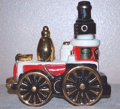 1971 Ezra Brooks Train Decanter Hand Decorated With 24 K Gold  Empty