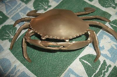 Brass Crab With Hidden Compartment Under Shell Flip Lid