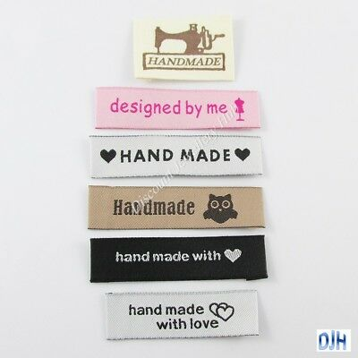 20pcs DIY Woven Hand Made Sewing Label Select Design