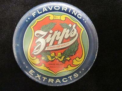 Antique c.1910 Zipp's Flavoring Extracts Lithograph Tip Tray