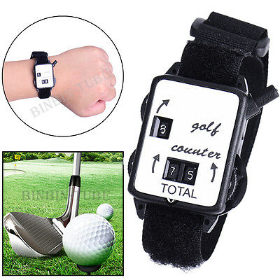 Mini Wristband Golf Stroke Score Counter Keeper Watch Putt Shot Scorer Golf Kits