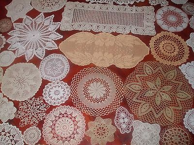 Vintage Beautiful Vintage Lot of 52 Vintage Hand Crocheted Doilies