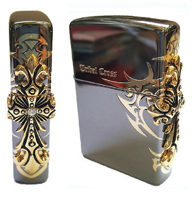 Zippo Tribal Cross Lighters Genuine Authentic Original Packing 6 Flints set GIFT