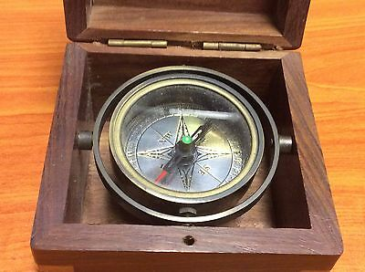 Handcrafted and vintage style floating compass