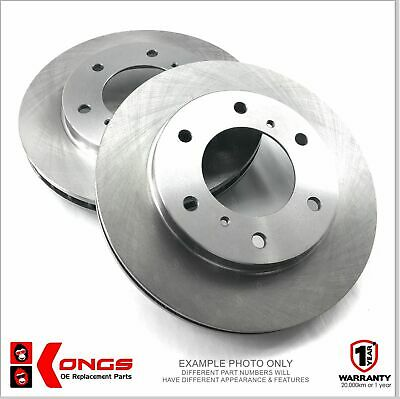 Pair of Front Disc Brake Rotors for NISSAN PATROL GU Y61 WAGON UTE 1997-16 306mm
