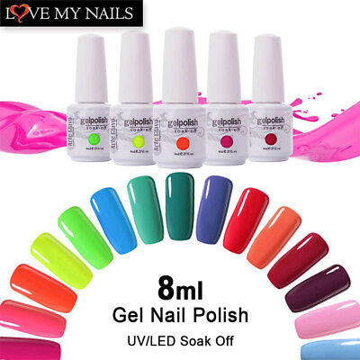 Arte Clavo 8ml Gel Nail Polish Soak Off LED UV Nail Gel Foundation No Wipe Top