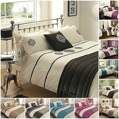 Duvet Cover Sets 5 pc bed in a bag double king size new embroidered bedding