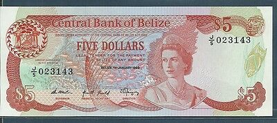 Belize 5 Dollars, 1989, P 47b, UNC