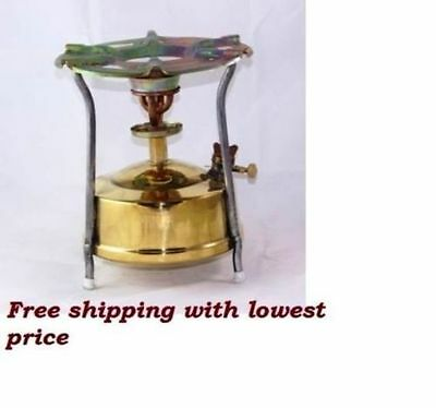 Brass Stove Kerosene Stove Camping Hiking Home Outdoor 1.8 Litre with parts