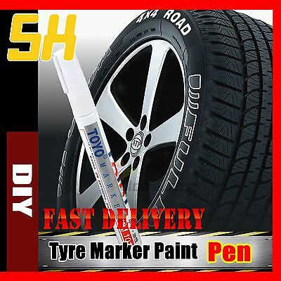 5x White Car Motorcycle Cool Tyre Tire Tread Paint Marking Pen Marker Waterproof