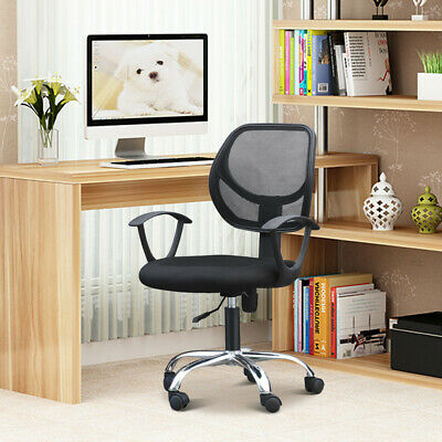 New Mesh Chair  Chrome Adjustable Executive Office Computer Desk High Back Chair
