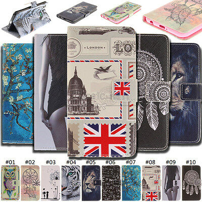 For LG Phones Case Flip Magnetic Card Stand Cover Wallet PU Leather Pattern Skin